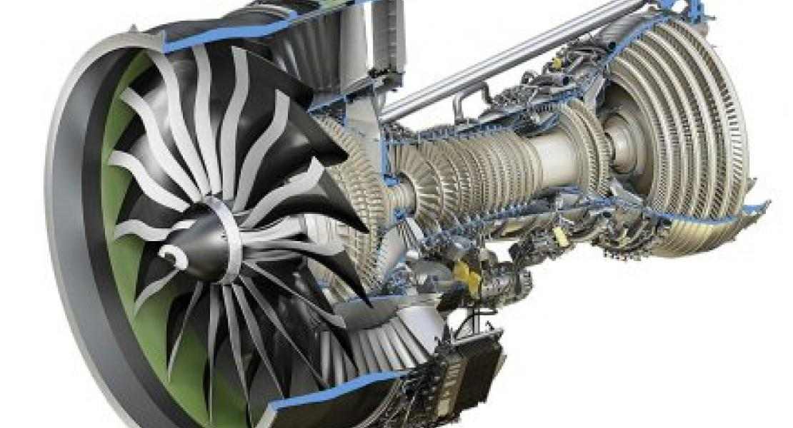 GEnx high+low pressure turbine rendering. Image Credit: GE Research